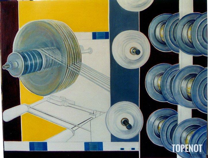 Axon-cables-Huile-sur-toile 2000-92x65