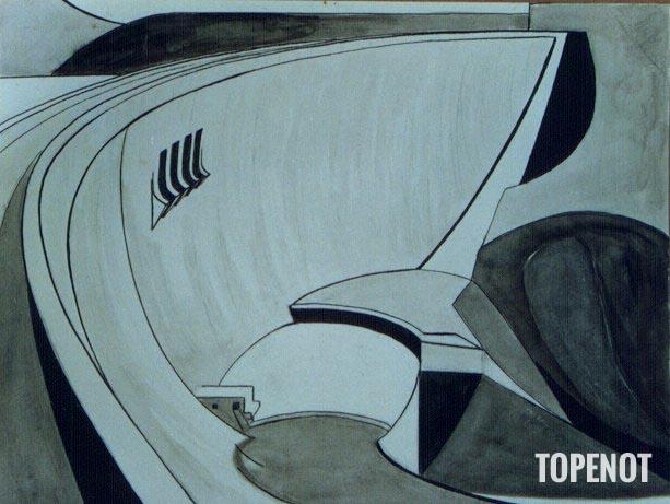 Barrage_Graphisme_et Lavis 1972