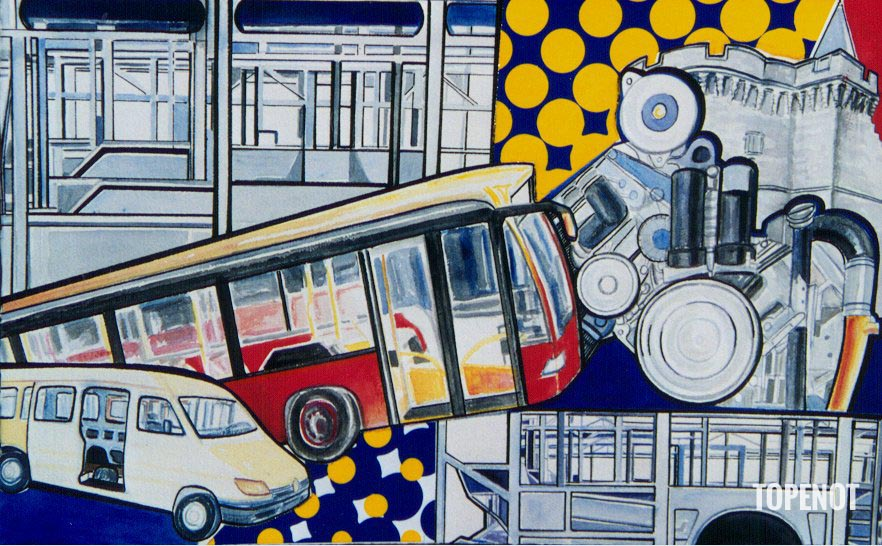Evobus-Mercedes-Huile-sur-toile-2001-146x89