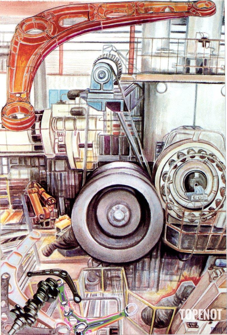 Forges-de-Courcelles-Acrylique-sur-papier-1999