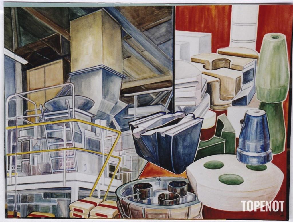 Lafarge-Calderys-acrylique-sur-papier-1998