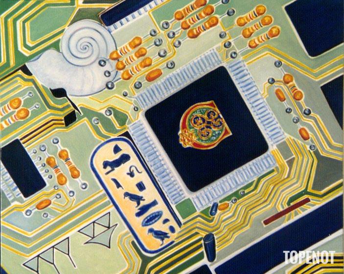Les-Ages-de-la-communication-Huile-sur-toile-2002-65x45