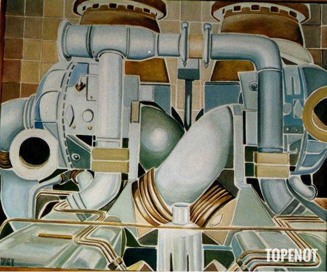 Moteur-diesel-Huile-sur-toile-1985-73x60