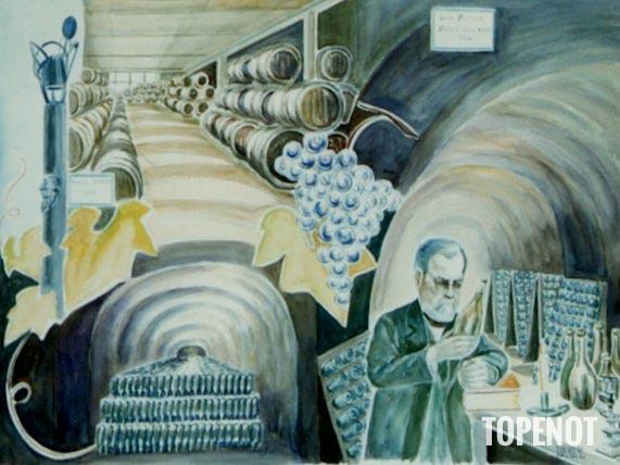 Pasteur-Etude-sur-les-vins-Aquarelle-1992