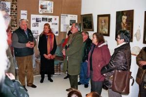 Vernissage de la première exposition en février 2014.