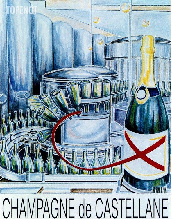 Champagne-de Castellane-affiche-1991