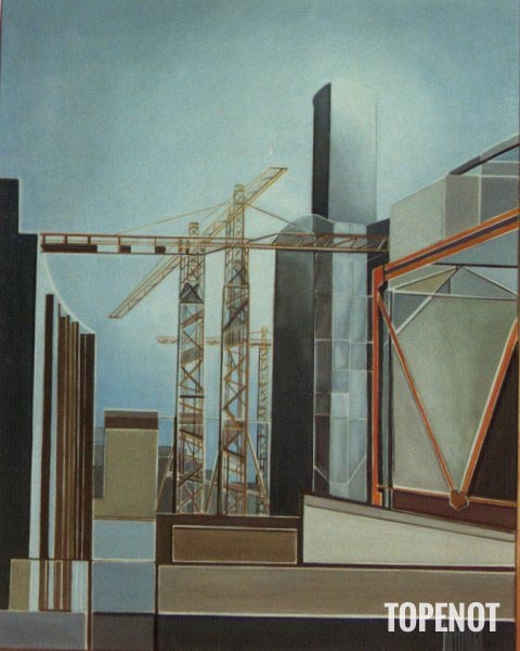 Construction-Tour-Montparnasse-Huile-sur-toile-1988-92x73