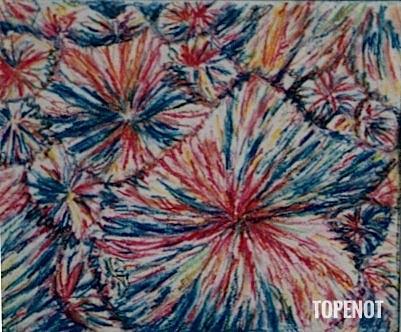 Cristaux-d_aspirine-Craie-sur-papier-1993