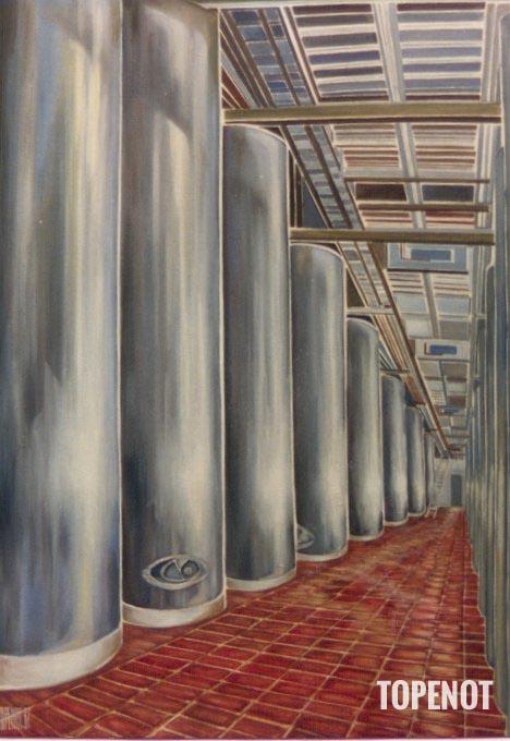 Cuves-Laurent-Perrier-Huile-sur-toile-1987-100x73