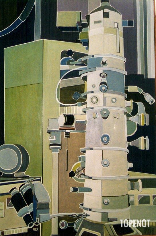 Microscope-electronique-Huile-sur-toile-1981-146x97