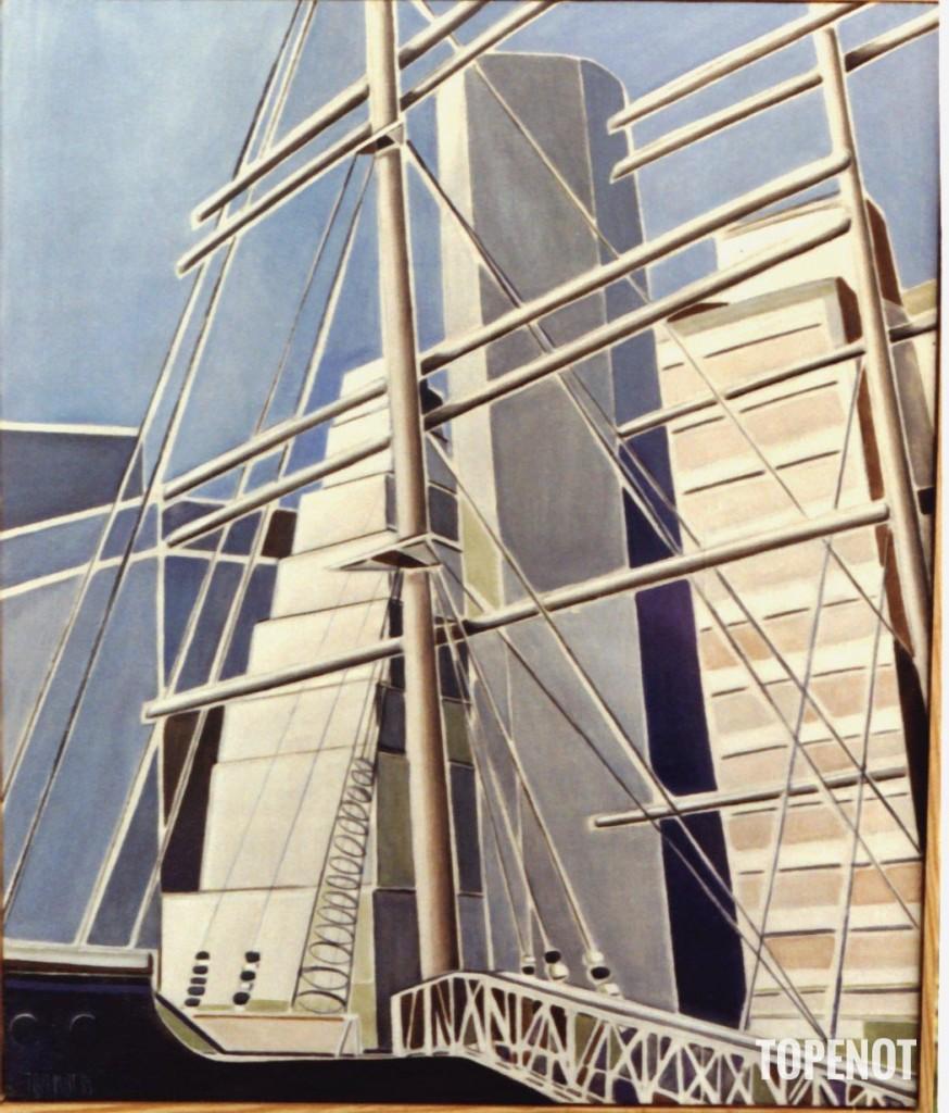 New-York-Musee-Nautique-II-Huile-1985-79x54