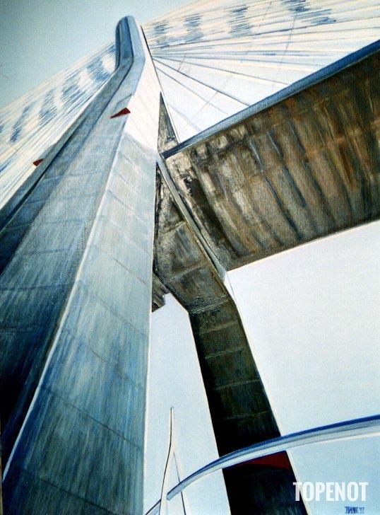 Pont-de-Normandie-Huile-sur-toile-1997