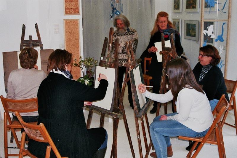 Cours de dessin par Anael Topenot et le sculpteur Georges Kliemann - 9 février 2014