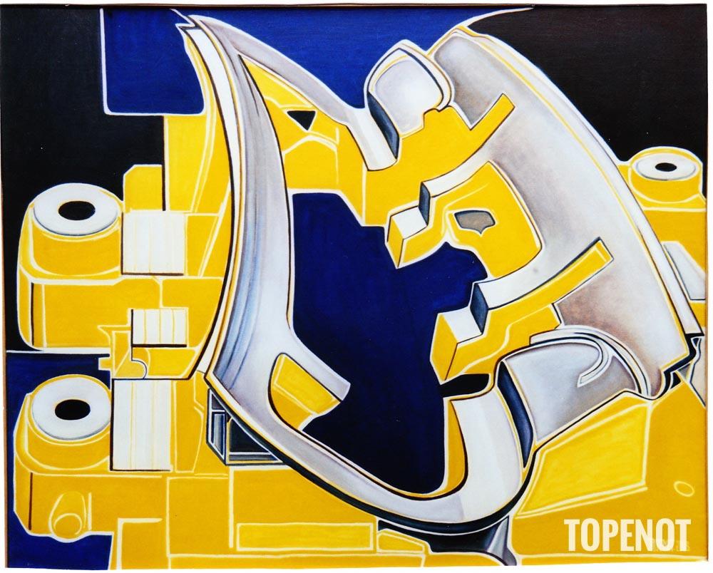 matrice-emboutissage-auto-Huile-sur-toile-2004-81x60