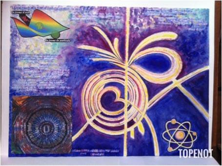 univers-quantique-acrylique-papier-et-collages-2014